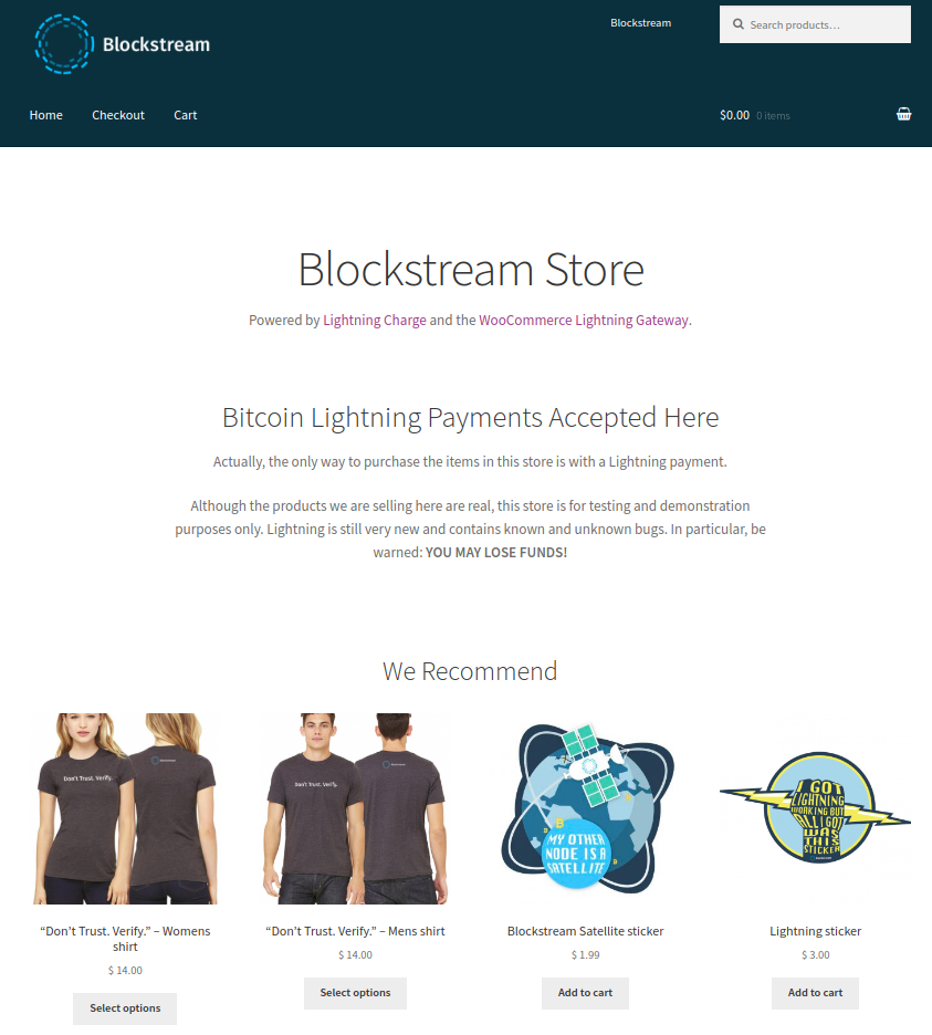 Blockstream Store Overview